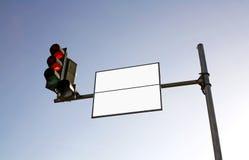 Segnale stradale vuoto Immagine Stock
