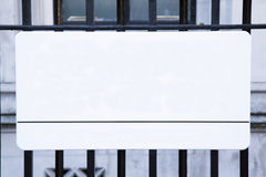 Segnale stradale vuoto, Londra Immagine Stock Libera da Diritti