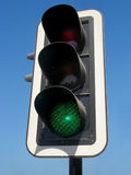 Segnale verde fotografia stock