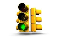 Segnale verde del semaforo Fotografia Stock Libera da Diritti