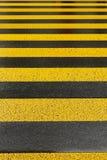 Segnaletica stradale gialla Fotografia Stock