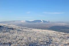 Segnali di Brecon nell'inverno Fotografia Stock