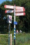 Segnali di direzione della bicicletta Fotografie Stock