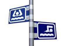 Segnali di direzione di nuotata o del dispersore royalty illustrazione gratis