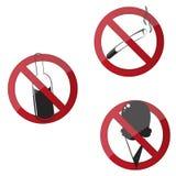 Segnali di pericolo Fotografie Stock Libere da Diritti