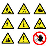 Segnali di pericolo illustrazione vettoriale