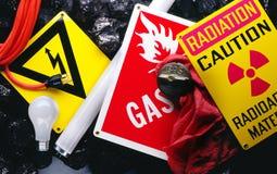 Segnali di pericolo Fotografia Stock Libera da Diritti
