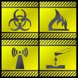 Segnali di pericolo Fotografia Stock