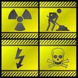 Segnali di pericolo Fotografie Stock