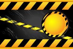 Segnali di pericolo e linee d'avvertimento Fotografia Stock Libera da Diritti