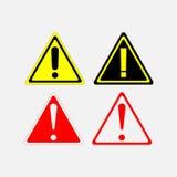 Segnali di pericolo messi illustrazione vettoriale