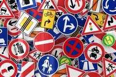 Segnali stradali Fotografia Stock