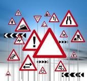 Segnali stradali Fotografie Stock