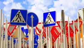 Segnali stradali Fotografie Stock Libere da Diritti