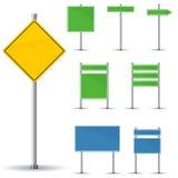 Segnali stradali in bianco Fotografia Stock
