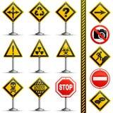 Segnali stradali dell'accumulazione Immagine Stock