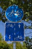 Segnali stradali della bicicletta Immagine Stock Libera da Diritti