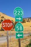 Segnali stradali della California Immagini Stock