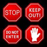 Segnali stradali di cautela e del pericolo Immagini Stock