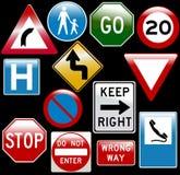 Segnali stradali di vettore royalty illustrazione gratis