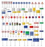 Segnali stradali e simboli illustrazione di stock