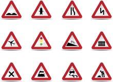 Segnali stradali impostati Fotografia Stock