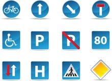 Segnali stradali informativi Immagini Stock Libere da Diritti