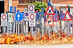Segnali stradali italiani Fotografie Stock