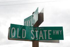 Segnali stradali nella contea di Placer fotografie stock libere da diritti