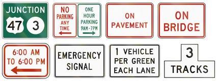Segnali stradali regolatori degli Stati Uniti MUTCD Immagini Stock Libere da Diritti