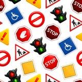 Segnali stradali, reticolo senza giunte Immagine Stock