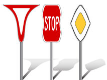 Segnali stradali stilizzati Immagini Stock