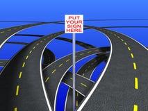 Segnali stradali (striscia segmentata) illustrazione vettoriale