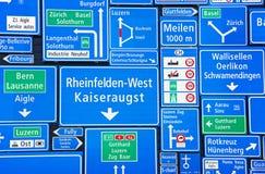 Segnali stradali svizzeri Fotografia Stock Libera da Diritti