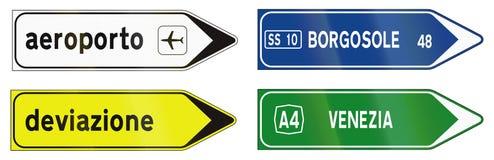 Segnali stradali utilizzati in Italia Fotografia Stock Libera da Diritti