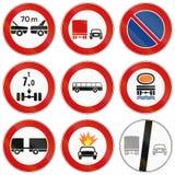 Segnali stradali utilizzati in Italia Immagini Stock Libere da Diritti
