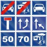 Segnali stradali utilizzati in Italia Immagini Stock