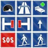 Segnali stradali utilizzati in Italia Fotografie Stock