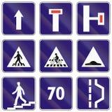 Segnali stradali utilizzati in Slovacchia Immagine Stock Libera da Diritti