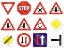 Segnali stradali utilizzati in Slovacchia Fotografie Stock Libere da Diritti