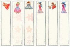 Segnalibri con gli angeli, illustrazione dell'acquerello, Immagini Stock Libere da Diritti