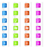 Segnalibri con le icone del sistema in quattro colori Fotografie Stock