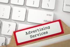 Segnalibri dell'archivio dell'indice di carta con i servizi di pubblicità 3d immagine stock