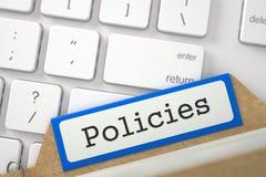 Segnalibri dell'archivio dell'indice di carta con le politiche 3d Fotografia Stock Libera da Diritti
