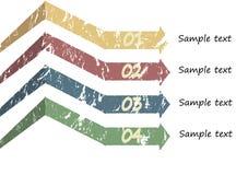 Segnalibri e frecce per testo Fotografia Stock Libera da Diritti