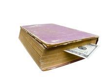 Segnalibro da soldi Immagini Stock Libere da Diritti