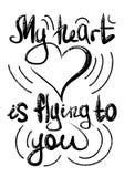 Segnando, fondo isolato, illustrazione, il nero, bianco, cartolina, manifesto, San Valentino, il 14 febbraio, amore illustrazione vettoriale