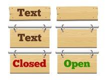 Segnaposti di legno per l'illustrazione di vettore del testo Immagine Stock