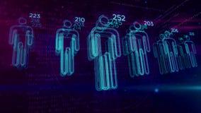 Segnare sociale e la gente il concetto della stima del credito da accordare archivi video