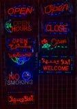 Segni al neon Fotografie Stock Libere da Diritti